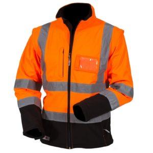 Priha huomiovärinen softshell pusero oranssi-musta