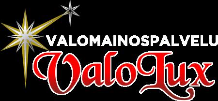 Valolux logo tummalle pohjalle